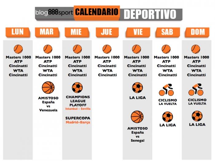 Calendario Semanal.Calendario Semanal Para Nuestras Apuestas Deportivas 888sport