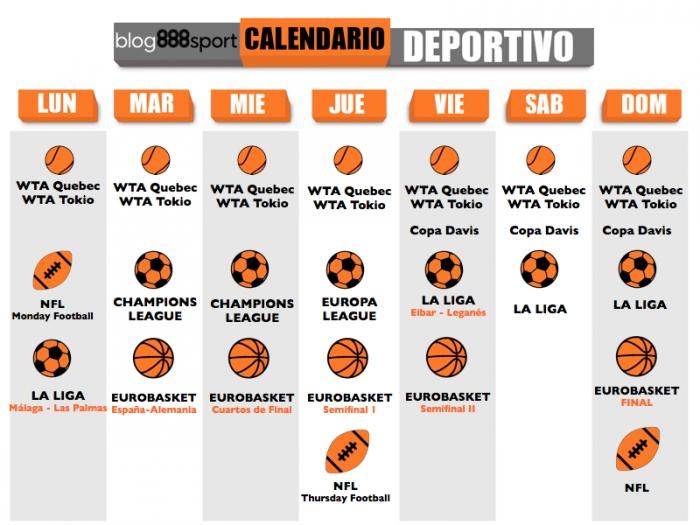 Eurobasket Calendario.Eventos Deportivos De La Semana Del 11 Al 17 De Septiembre 888sport