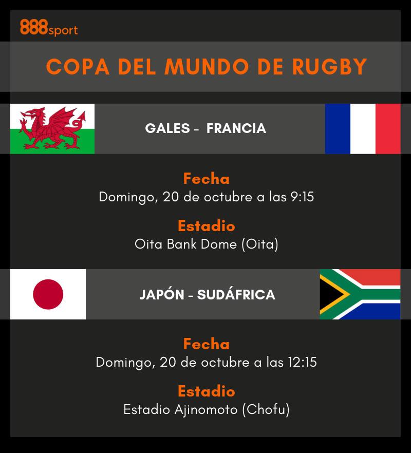 Cuartos de final del Mundial de Rugby de Japón | Apuestas Rugby